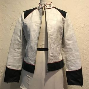 Used, Vintage Marcia Leather Motorcycle Jacket for sale